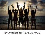 hands in the air   Shutterstock . vector #176037932
