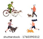 sport and activity with dogs... | Shutterstock .eps vector #1760390312