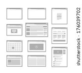 web site page templates... | Shutterstock .eps vector #176039702
