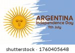 argentina independence day ... | Shutterstock .eps vector #1760405648