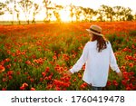 Young Girl In Hat Posing In The ...