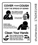 cover your cough stop the... | Shutterstock .eps vector #1760431448