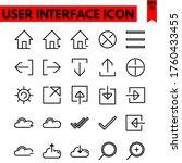 user interface vector line...