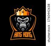 king kong mascot logo vector | Shutterstock .eps vector #1760442638