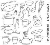 hand drawn of kitchenware set | Shutterstock .eps vector #1760446025