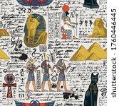 seamless pattern on an ancient... | Shutterstock .eps vector #1760446445