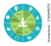 human sitting in yoga lotus... | Shutterstock .eps vector #1760498375