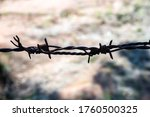 barbed wire for imprisonment... | Shutterstock . vector #1760500325