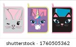 design of  pencil case for... | Shutterstock .eps vector #1760505362