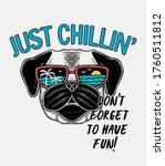 cool dog  illustration with... | Shutterstock .eps vector #1760511812