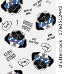 cool dog  illustration seamless ... | Shutterstock .eps vector #1760512442