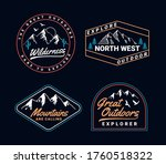 set of vector outdoor adventure ... | Shutterstock .eps vector #1760518322