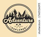 adventure explore logo concept. ...   Shutterstock .eps vector #1760526095
