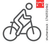 cycling line icon  fitness and...   Shutterstock .eps vector #1760531462