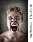 screaming man | Shutterstock . vector #176054345
