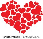 heart symbol many reds come... | Shutterstock .eps vector #1760592878