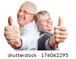 happy elderly senior couple... | Shutterstock . vector #176062295