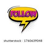 comic text follow on speech...   Shutterstock .eps vector #1760639048