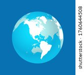 globe map of the world...   Shutterstock .eps vector #1760644508