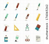 drawing painting tools icons...   Shutterstock .eps vector #176065262