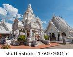 White Pavilion  With Blue Sky...