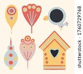 kid s fabric design elements...   Shutterstock . vector #1760729768