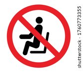 stop to sit don't sit here icon ...   Shutterstock .eps vector #1760773355