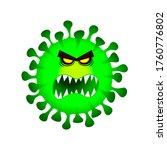 character evil coronovirus...   Shutterstock . vector #1760776802