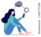 woman with mental health... | Shutterstock .eps vector #1760777138