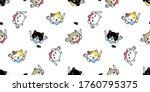 cat seamless pattern kitten... | Shutterstock .eps vector #1760795375