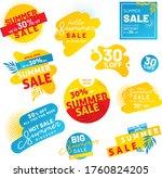 summer sale banner labels.... | Shutterstock .eps vector #1760824205