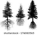 illustration with three firs... | Shutterstock .eps vector #176083565