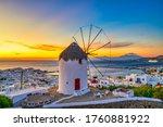 Traditional Greek Windmill At...