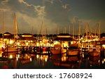 Night At A Naples Bay Marina ...