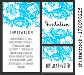 invitation cards | Shutterstock .eps vector #176090225