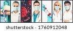 coronavirus covid 19 photo set... | Shutterstock . vector #1760912048