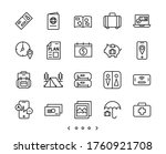 travel and vacation line icons...   Shutterstock .eps vector #1760921708