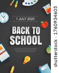 back to school poster with... | Shutterstock .eps vector #1760934605