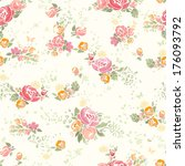 seamless summer pattern with... | Shutterstock .eps vector #176093792