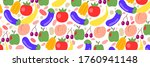 fruits and vegetables color... | Shutterstock .eps vector #1760941148