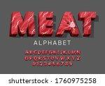 vector latin meat alphabet. set ... | Shutterstock .eps vector #1760975258