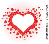 nice and beautiful red hearts | Shutterstock . vector #176097926