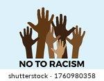 no to racism. stop to racism... | Shutterstock .eps vector #1760980358