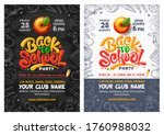 back to school party posters... | Shutterstock .eps vector #1760988032