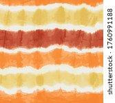 orange yellow tie dye stripes... | Shutterstock .eps vector #1760991188