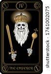 the emperor. the 4th card of...   Shutterstock .eps vector #1761002075