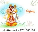illustration of cheerful king... | Shutterstock .eps vector #1761005198