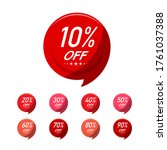 discount round labels set... | Shutterstock .eps vector #1761037388