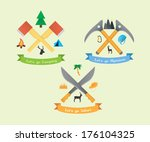 camping safari mountaineering... | Shutterstock .eps vector #176104325