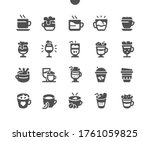 coffee types well crafted pixel ...   Shutterstock .eps vector #1761059825